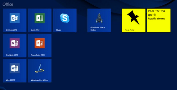 pinanote2   Pin a note: Pin Notes Directly To The Start Screen [Windows 8]