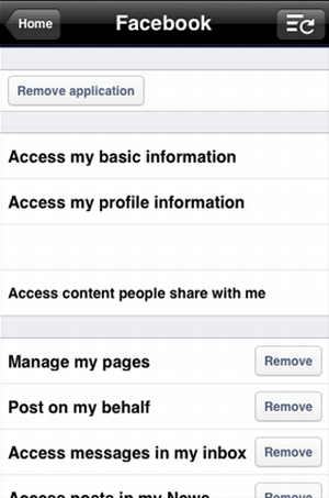 app permissions on iphone