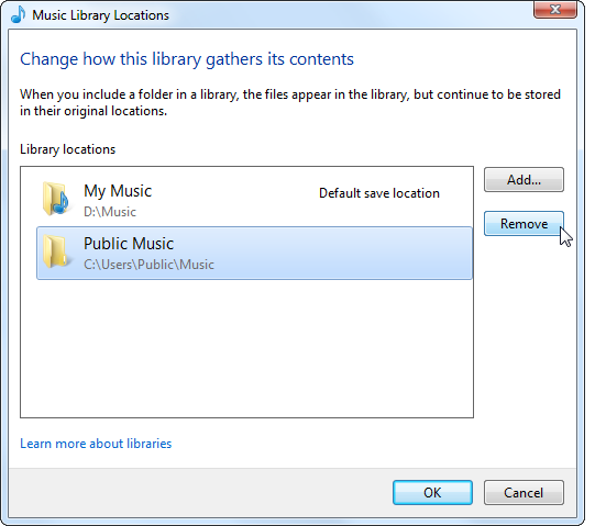 windows 8 libraries