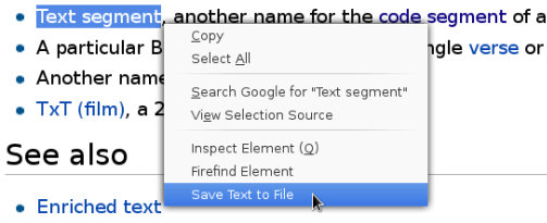 highlighted text to file