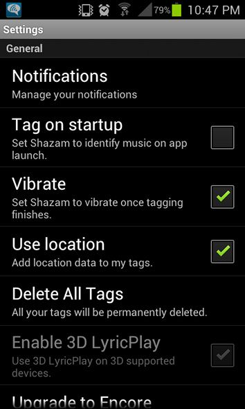 shazam app for android