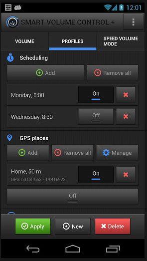 set sound profiles android
