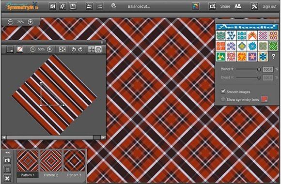 symm   SymmetryMill: A User Friendly Pattern Design Tool  For Everyone