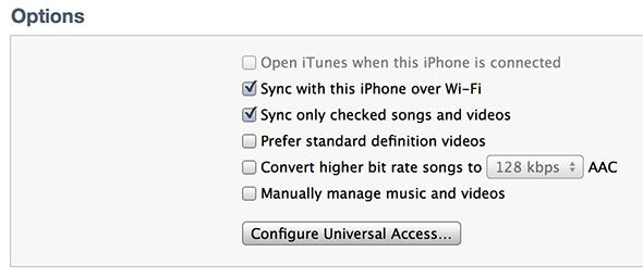 Is Your New iPhone Paired To Another iTunes Library? Don't Freak Out Yet sync options