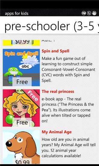 windows mobile apps for children