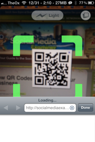 barcode scanner iphone