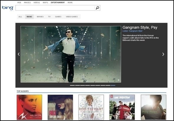 Greater Than Google: The Best Bits Of Bing Bing Entertainment Music1