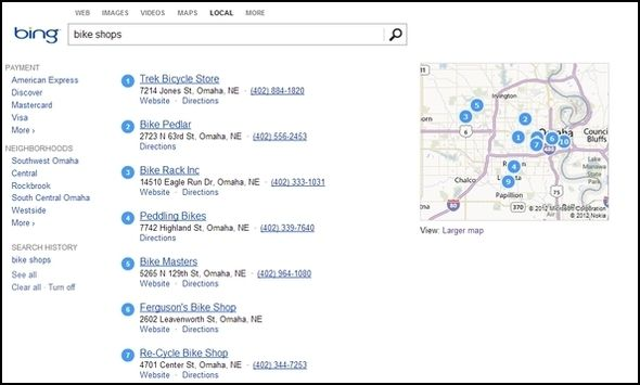 Greater Than Google: The Best Bits Of Bing Bing Local1