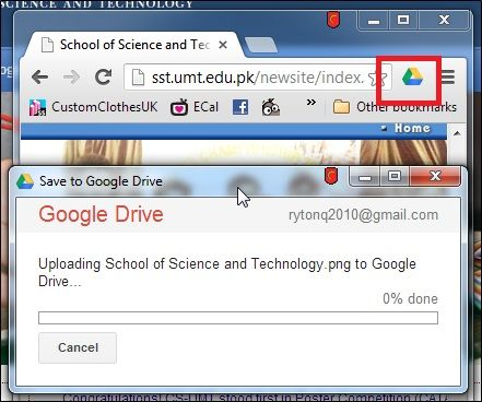 send photos to google drive