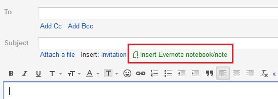 integrating evernote gmail