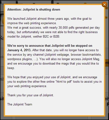 Top Tips & Tools to Help With Printing Webpages Joliprint shutting down
