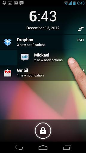 notification for installed application android