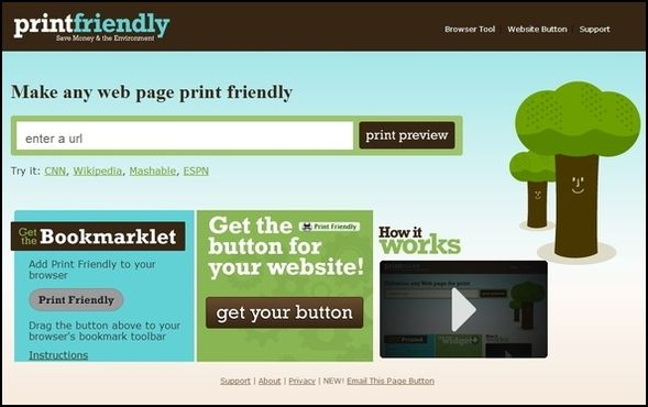 PrintFriendly Homepage