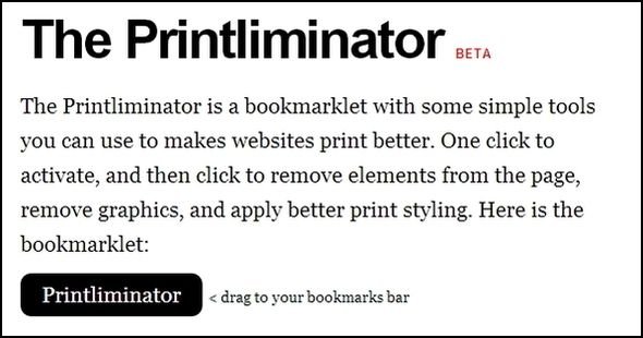 Top Tips & Tools to Help With Printing Webpages Printliminator web page1