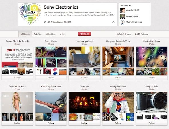 Geek it Out On Pinterest: 10 Users You Should Follow Sony