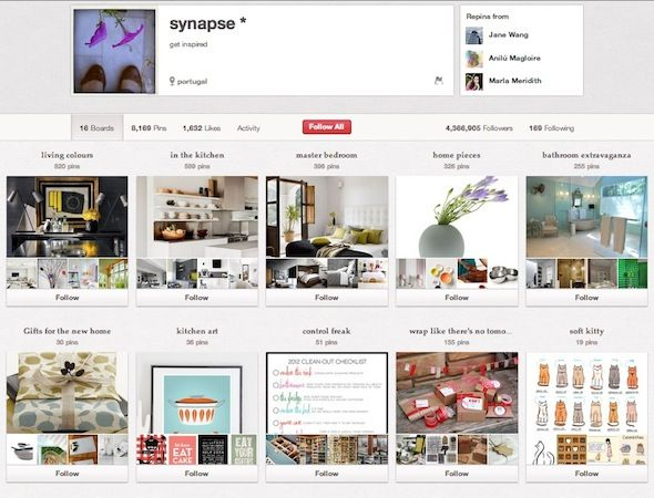 Geek it Out On Pinterest: 10 Users You Should Follow Synapse