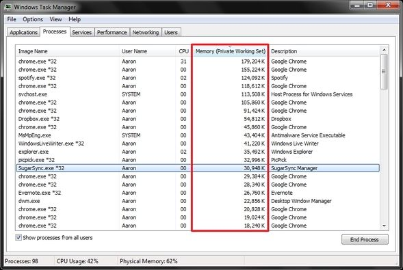 Mysteries Of The Windows 7 Task Manager: Why You Don't Need an Alternative WTM Processes Memory