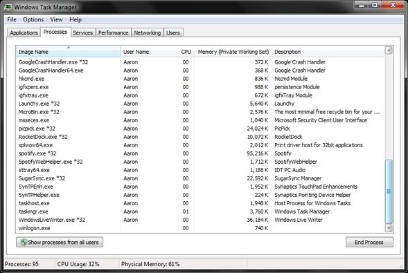 Mysteries Of The Windows 7 Task Manager: Why You Don't Need an Alternative WTM Processes