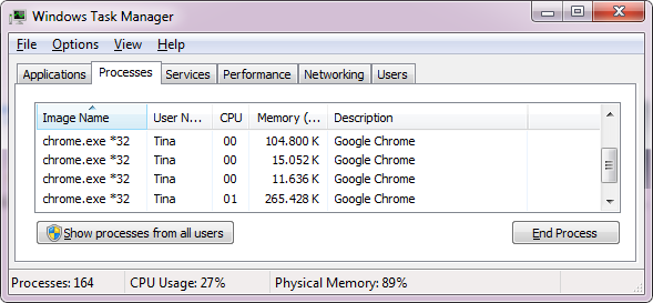 The Better Browser With Great Features - Google Chrome Windows Task Manager Chrome