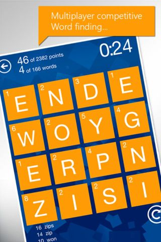 Wordament   Wordament: Compete With Players Worldwide By Creating The Most Words From a 4x4 Puzzle