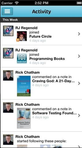 actibity   BookShout: Buy Books, Share Books & Create Reading Groups