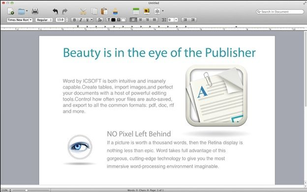 word processor for mac