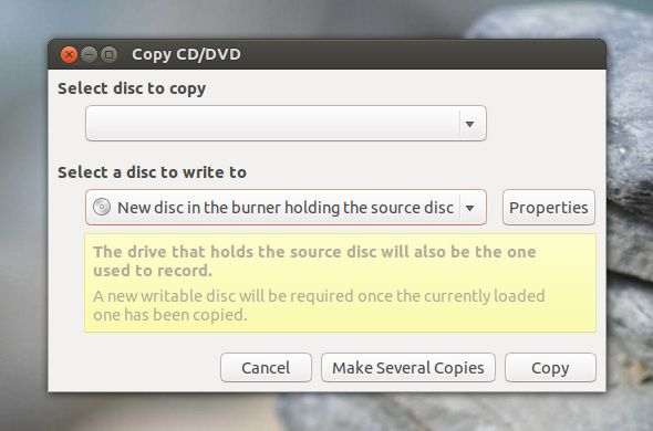 burn cds with linux