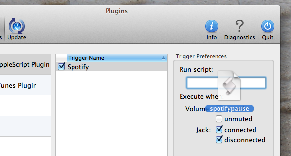 How To Automatically Pause Your Music When You Unplug Your Headphones [Mac] breakaway addscript