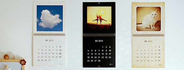 calendar with instagram photos