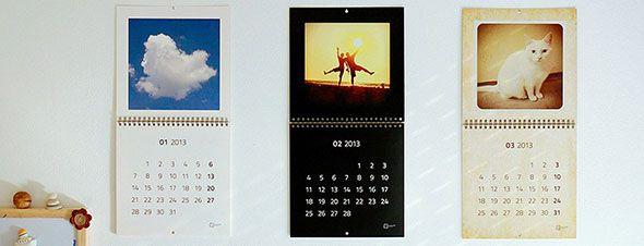 calendar with instagram photos