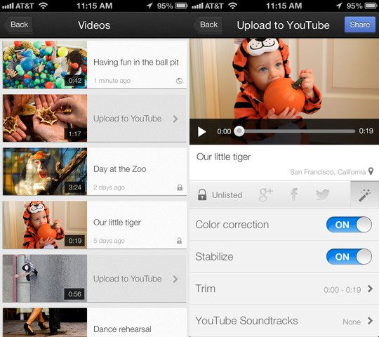 quickly upload videos to youtube