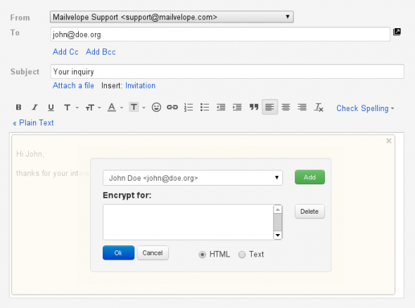 openpgp email encryption