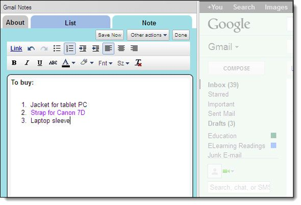 annotate gmail messages