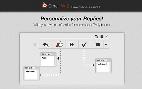 gmailwiz1   GmailWiz for Chrome: Save Time Using Dedicated Buttons For Instant Replies
