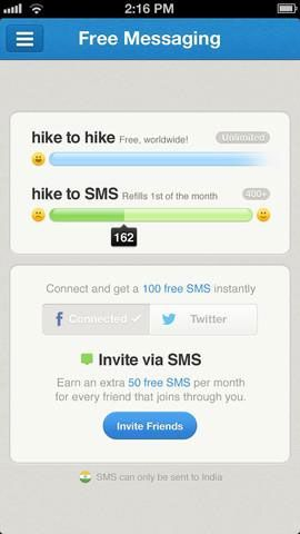 hike messenger1   Hike Messenger: Send Free Internet Messages & SMS [iOS]