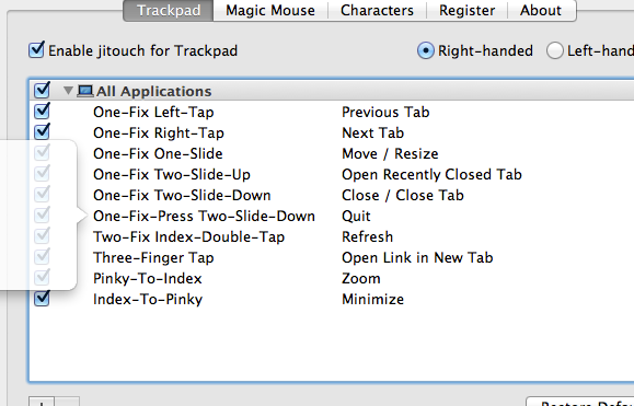 itouch22   jitouch 2: Add Lots More Gestures To MacBook & Magic Mouse