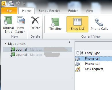 Track Emails, Phone Calls, And Tasks With Outlook Journal journal2