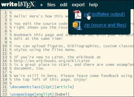 latex   writeLaTeX: Write & Share LaTeX Documents Online