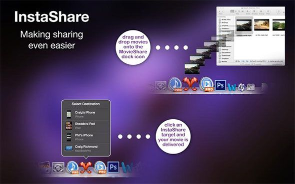 movieshare   MovieShare: Copy Videos Between Your Mac & iOS Devices [OSX]