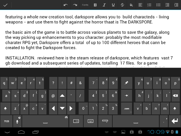 android word processor app