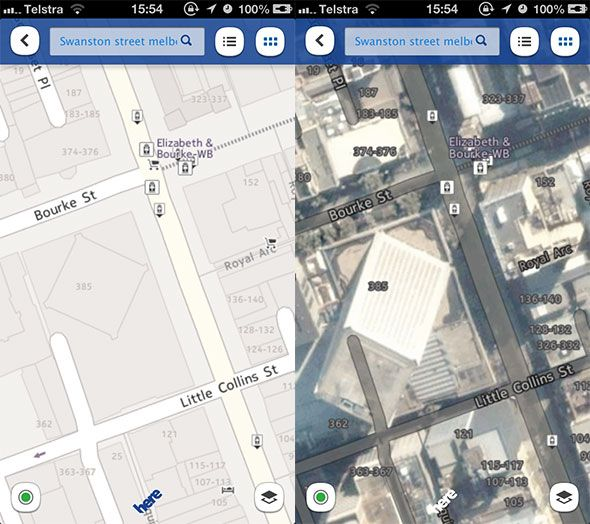 ios 6 maps compared to google