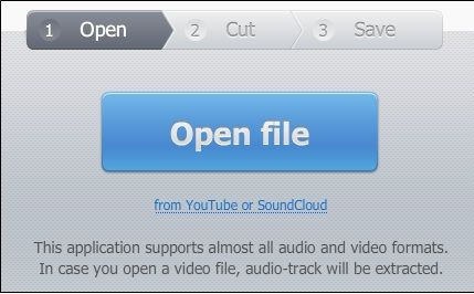 open   MP3cut Online Audio Cutter: Trim MP3 Audio Online To Convert To An iPhone Ringtone