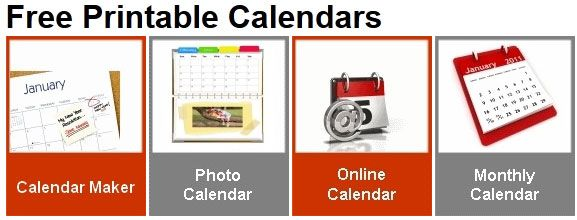 printable online calendar templates