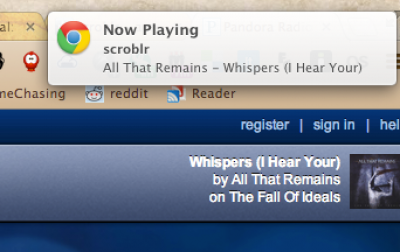 scroblr1 e1356713833502   scroblr: Scrobbles The Music You Listen To On The Web To Last.fm [Chrome]
