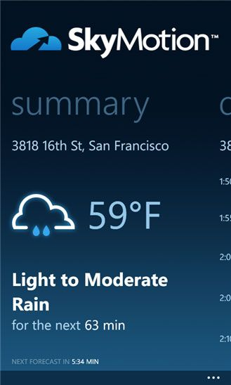skymotion   SkyMotion: Find Out When It Is Raining & For How Long
