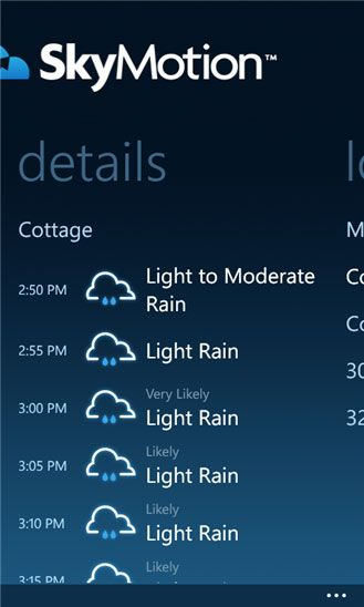skymotion1   SkyMotion: Find Out When It Is Raining & For How Long