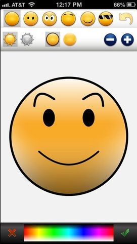 smile   CogniFit MoodCraft: Create Your Own Emoticons To Let Friends Know What You Are Feeling [iOS]
