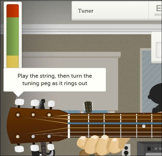 tuner   Get Instinct: Learn The Guitar Through Interactive Animations Structured As Lessons