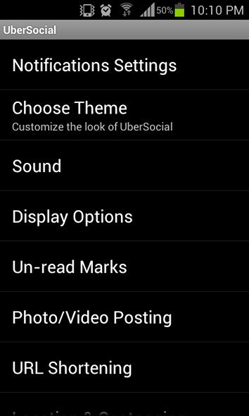Take Control Of Your Twitter Account With UberSocial [Android 2.1+] ubersocial settings