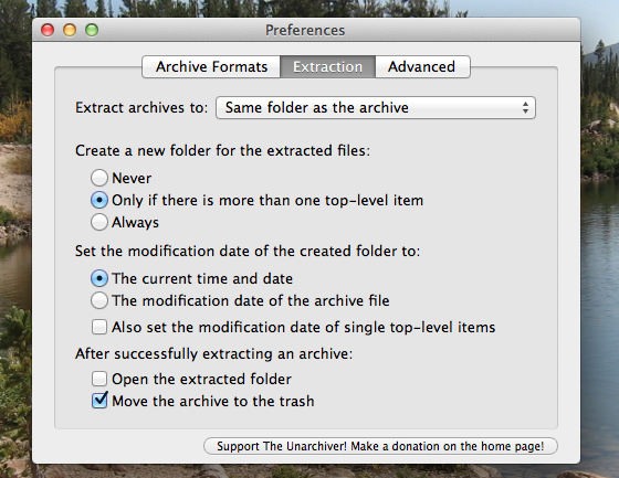 unzip archive mac